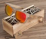 Skateboard Wood Sunglasses with Yellow Lenses