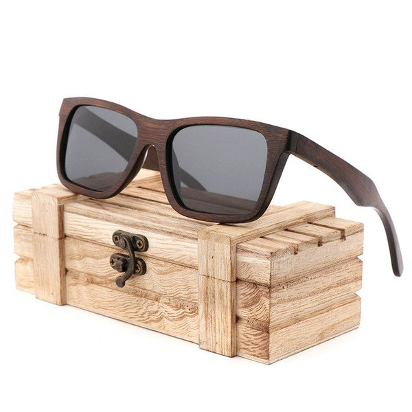 Handmade Dark Bamboo Sunglasses for Men
