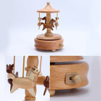 Wooden Carousel Music Box