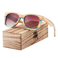 Colourful Zebra Wood Sunglasses