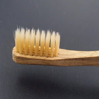 Eco-Friendly Bamboo Toothbrush with Rounded Handle