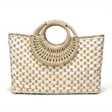 Creative Weave Straw Handbag (Natural)