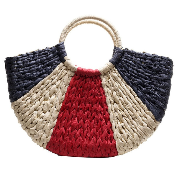 Colourful Straw Handbag