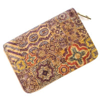 Natural Cork Purse with Tile Pattern