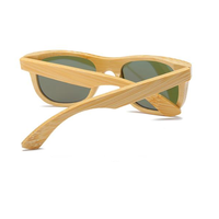 Wooden Bamboo Sunglasses with Case back view
