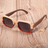 Two-toned wooden sunglasses