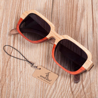 Two-toned wooden sunglasses with grey lens