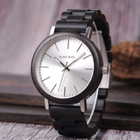 Ebony Wooden Watch with Metal Dial