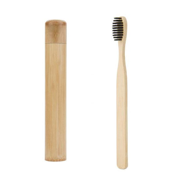 Eco Friendly Bamboo Toothbrush with Travel Case