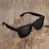 Classic Dark Wooden Wayfarer Sunglasses