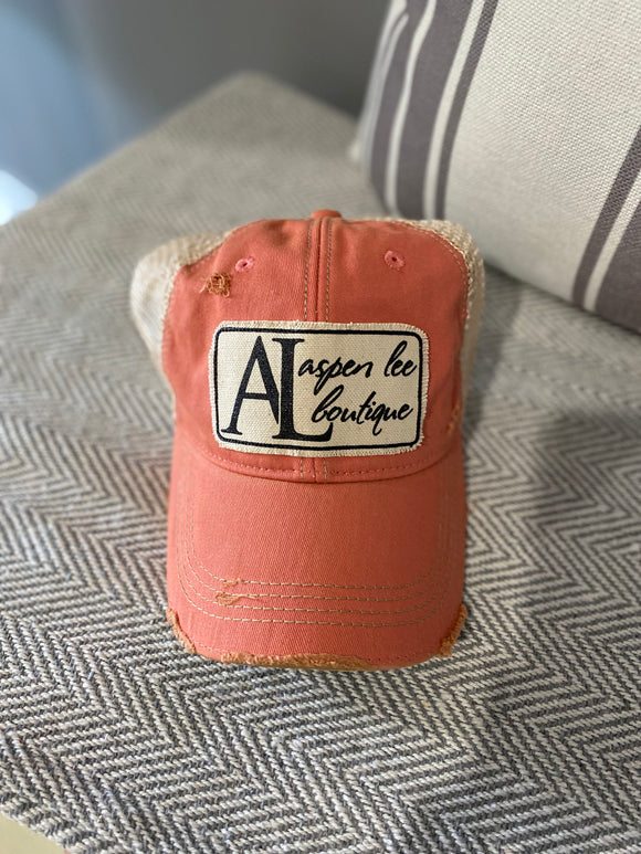 Aspen Lee Distressed Trucker Hats