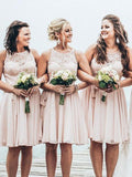 Fashion Short Bridesmaid Dress Custom Made Wedding Party Dress YDB0003