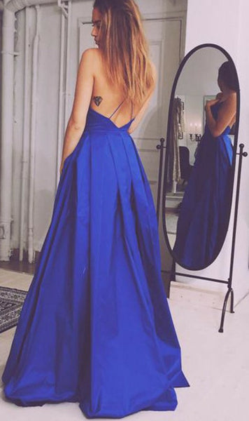 V-neck Backless Long Prom Dresses Custom-made School Dance Dress Fashion Graduation Party Dress YDP0502