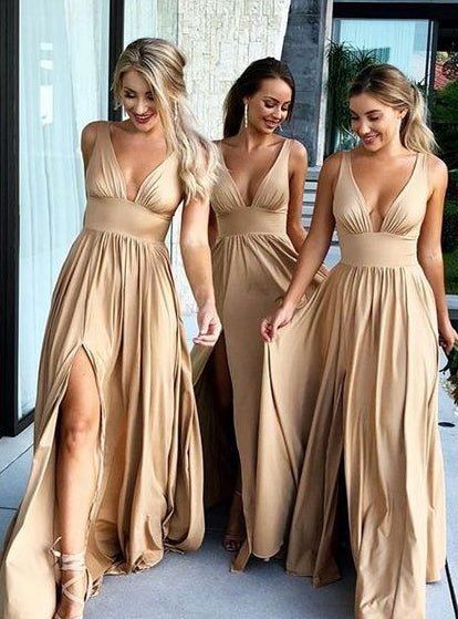Sexy Long Bridesmaid Dress,Custom Made Wedding Party Dress YDB0047