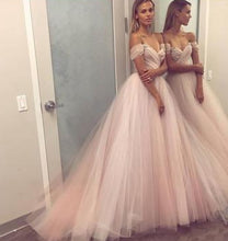 Load image into Gallery viewer, Off the Shoulder Ball Gown Long Prom Dress Sweet 16 Dance Dress Fashion Winter Formal Dress YDP0195