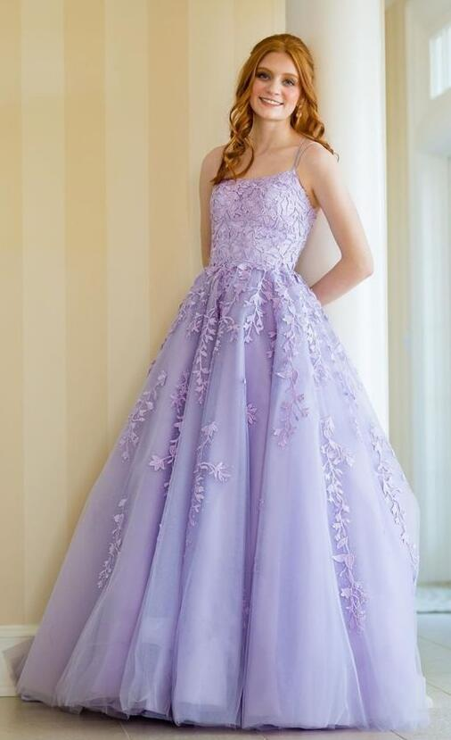 2021 Long Prom Dresses with Applique and Beading , Grad Dresses Long, 8th Graduation Dress ,School Dance Dress YPS1001