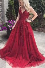 Load image into Gallery viewer, A-line Long Prom Dresses With Applique 8th Graduation Dress School Dance Winter Formal Dress YDP0869