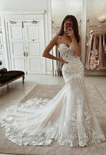 Load image into Gallery viewer, Mermaid Wedding Dress Fashion Custom Made Bridal Dress YDW0104