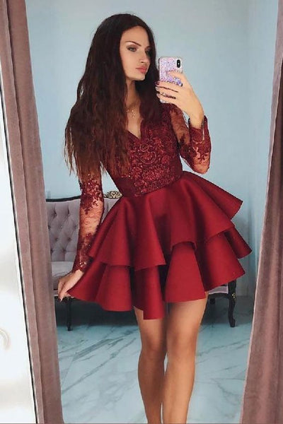 2019 Homecoming dress ,Short Prom Dress, 8th Graduation Dress ,Custom-made School Dance Dress YDH0035