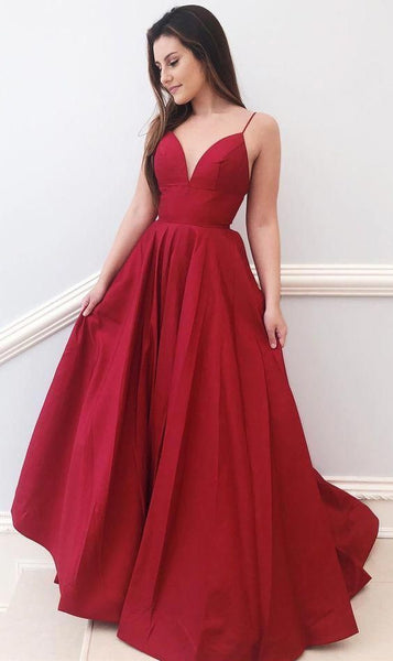 V-neck A-line Long Prom Dresses Custom-made School Dance Dress Fashion Graduation Party Dress YDP0532