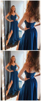 Simple A-line Long Prom Dress Custom-made Bridesmaid Dress Fashion Winter Formal Dress YDP0404