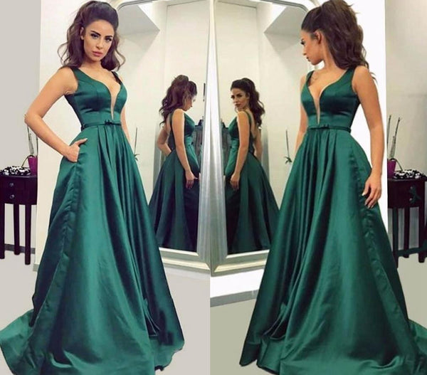 A-line Long Prom Dress School Dance Dress Fashion Winter Formal Dress YDP0237