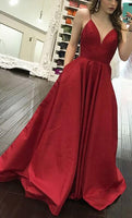 Simple A-line Long Prom Dress Custom-made School Dance Dress Fashion Graduation Party Dress YDP0456