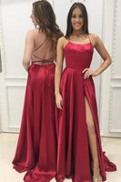 Backless Simple A-line Long Prom Dress Custom-made Dance Dress Fashion Winter Formal Dress YDP0406