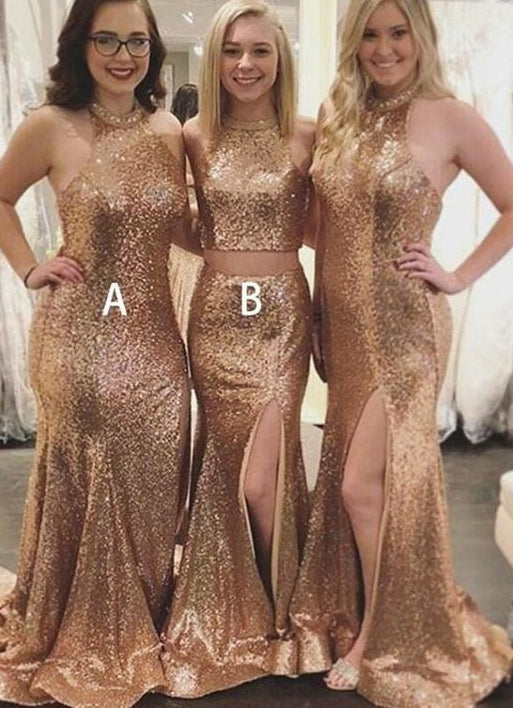 Long Bridesmaid Dress,Custom Made Wedding Party Dress YDB0037