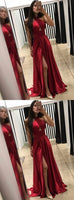 Simple A-line Long Prom Dress Custom Made Formal Dress Fashion Winter Dance Dress YDP0091