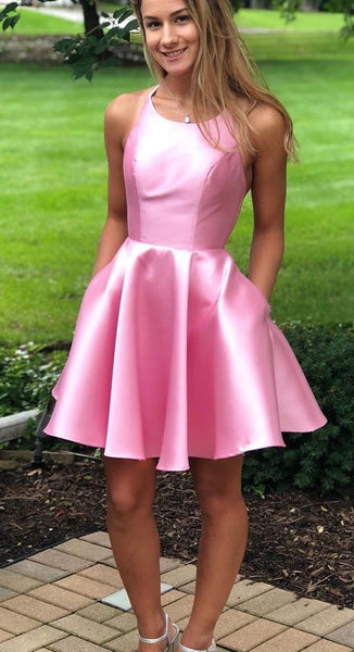 Simple Short Homecoming Dress ,2020 School Dance Dress ,Short Prom Dress YDH0137