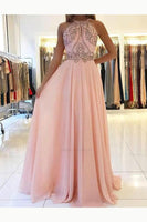 A-line Beaded Long Prom Dress 8th Graduation Dress Custom-made School Dance Dress YDP0742