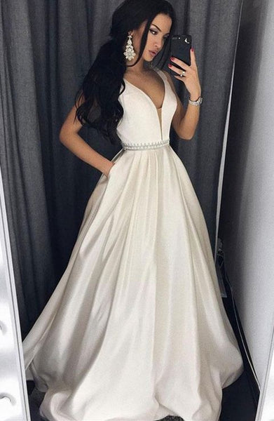 A-line Long Prom Dress School Dance Dress Fashion Winter Formal Dress YDP0305