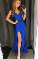 Simple A-line Royal Blue Long Prom Dress School Dance Dress Fashion Winter Formal Dress YDP0315