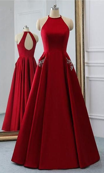 Open Back Prom Dress Long 8th Graduation Dress Custom-made School Dance Dress  YDP0661