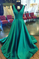 Simple A-line Long Prom Dress Custom-made School Dance Dress Fashion Graduation Party Dress YDP0474