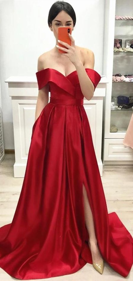 2020 Off Shoulder Prom Dress Long Prom Dresses 8th Graduation Dress School Dance Winter Formal Dress YDP1019