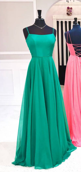 2019 Simple A-line Long Prom Dresses Custom-made School Dance Dress Fashion Graduation Party Dress YDP0500