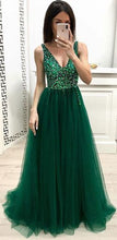 Load image into Gallery viewer, Long Prom Dress With Beading 8th Graduation Dress Custom-made School Dance Dress YDP0696