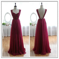 Backless Simple Long Prom Dress Custom Made A-line Formal Dress Fashion Winter Dance Dress YDP0141
