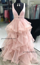 Load image into Gallery viewer, Deep V-neck Prom Dress Long 8th Graduation Dress Custom-made School Dance Dress YDP0652