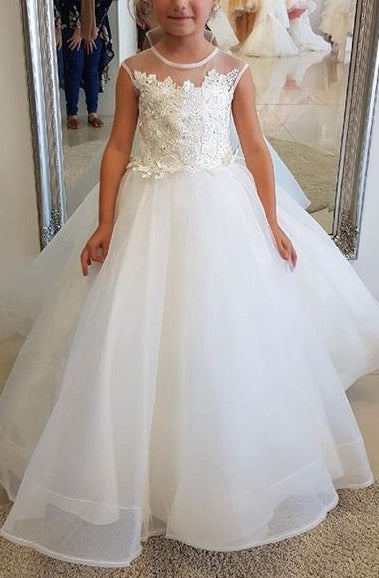 Custom Made Flower Girl Dress Fashion Ball Gown Flower Girl Dress YF003