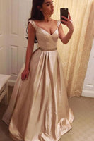 A-line Long Prom Dress School Dance Dress Fashion Winter Formal Dress YDP0303