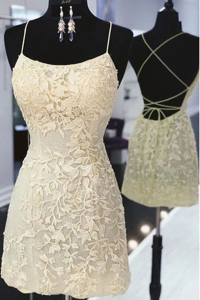 Short Homecoming Dress with Applique and Beading ,2020 School Dance Dress ,Short Prom Dress YDH0134