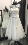 Short Beach Wedding Dress Fashion Custom Made Bridal Dress Wedding Reception Bridal Dress YDW0056