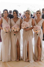 Load image into Gallery viewer, Sexy Long Bridesmaid Dress,Custom Made Wedding Party Dress YDB0048