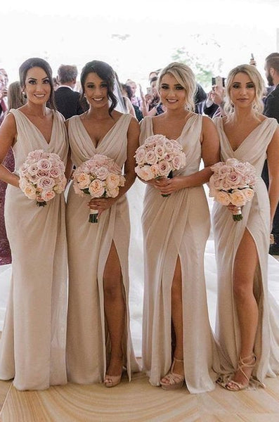 Sexy Long Bridesmaid Dress,Custom Made Wedding Party Dress YDB0048