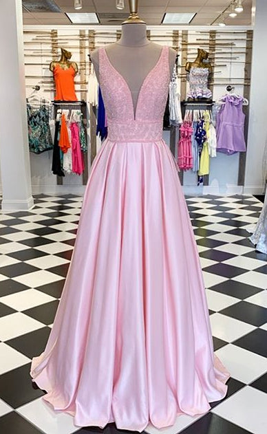Sexy Beading Long Prom Dresses,Formal Dresses YPS1084