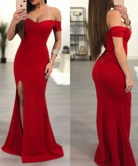 Off Shoulder Long Prom Dress 8th Graduation Dress Custom-made School Dance Dress YDP0722