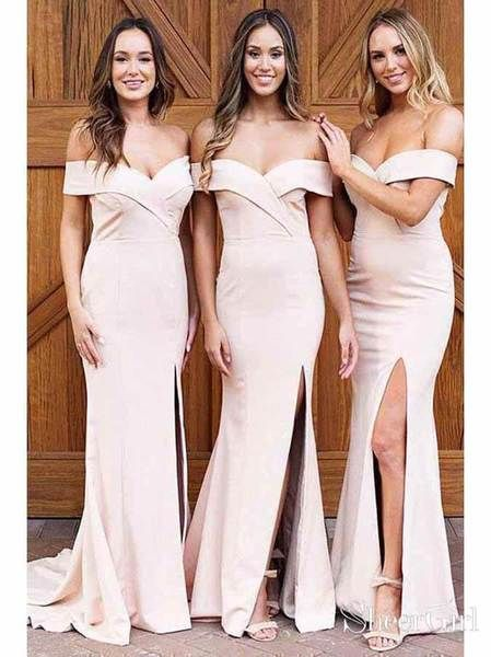 Off Shoulder Mermaid Long Bridesmaid Dress,Custom Made Future Wedding Formal Dress YDB0075